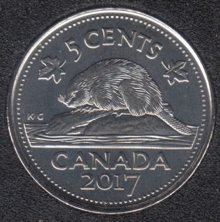 2017 - B.Unc - Beaver - Canada 5 Cents