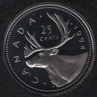 1994 - Proof - Canada 25 Cents