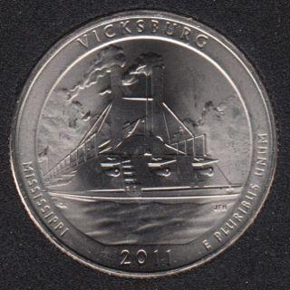 2011 D - Vicksburg - 25 Cents