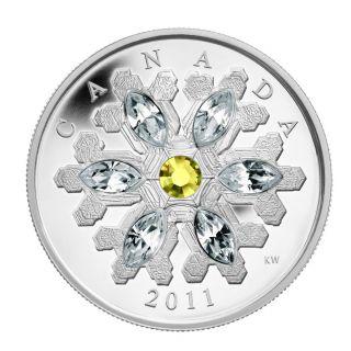 2011 - $20 - Fine Silver Coin - Topaz Snowflake