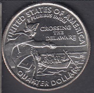 2021 D - B.Unc - Crossing the Delaware - 25 Cents