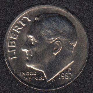 1987 P - Roosevelt - B.Unc - 10 Cents