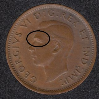 1946 - Large Eyebrow - Canada Cent