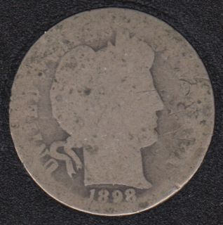 1898 O - Barber - 10 Cents