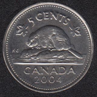 2004 P - B.Unc - Canada 5 Cents