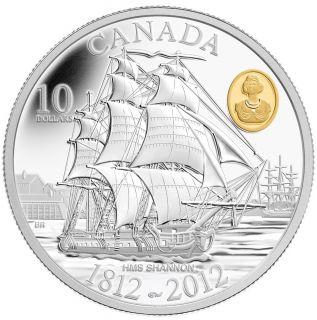 2012 - $10 - Fine Silver Coin - HMS Shannon