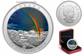 2016 - $20 - 1 oz. Fine Silver Coin – Weather Phenomenon: Radiant Rainbow