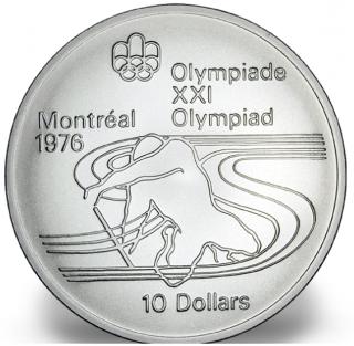 1976 - #17 (1975) - $10 - Pièce en argent sterling, Jeux olympiques d'été à Montréal, Ramer