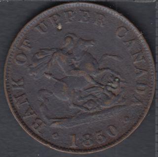 P.C. 1850 Bank of Upper Canada Half Penny - VF - PC-5A