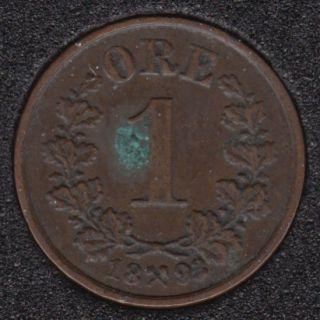 Norway - 1893 - 1 Ore