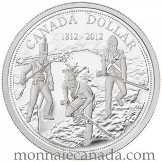 2012 - 200th Anniversary of the War of 1812 - Proof Fine Silver Dollar Coin