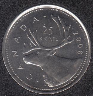 2008 - B.Unc - Canada 25 Cents