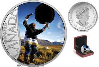 2017 - $10 - Canada's 150th Coin Series - Drum Dancing - 1/2 oz. Pure Silver