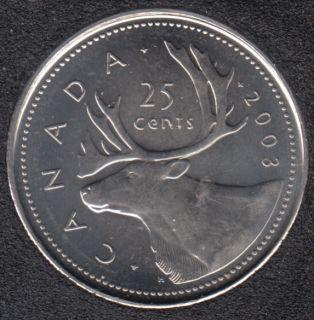 2003 P - B.Unc - NE - Canada 25 Cents