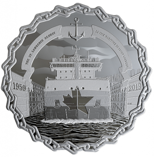 2019 - $30 - 2 oz. Pure Silver Coin - 60 Years of Prominence: The Saint Lawrence Seaway