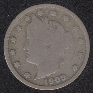 1909 - Liberty Head - 5 Cents
