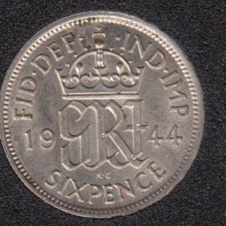 1944 - 6 Pence - Grande Bretagne