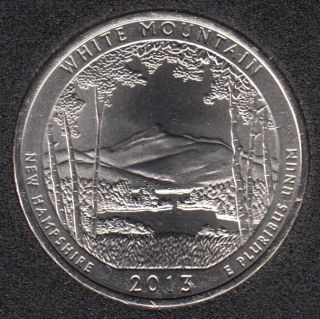 2013 P - White Mountain - 25 Cents