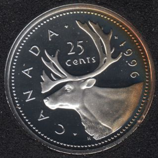 1996 - Proof - Silver - Canada 25 Cents