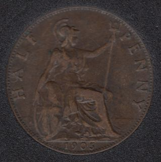 1905 - Half Penny - Great Britain