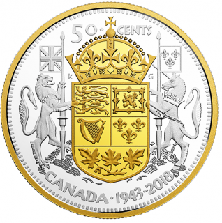 2018 - 50 ¢ -  2 oz. Pure Silver 1943 Half-Dollar
