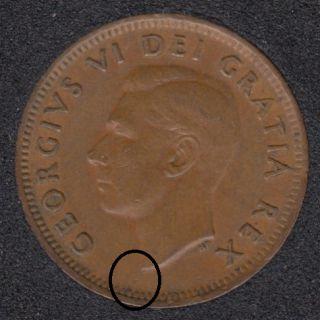 1950 - Break Bust to Rim - Canada Cent
