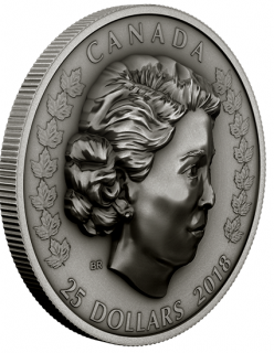 2018 - $25 - 1 oz. Pure Silver Coin - Her Majesty Queen Elizabeth II: The New Queen