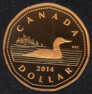 2014 - Proof - Argent Fin - Plaqué Or - Canada Huard Dollar