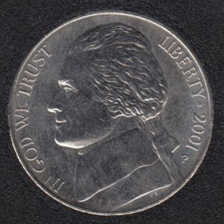 2001 P - Jefferson - B.Unc - 5 Cents
