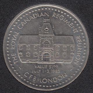 1983 1883 - Royal Canadian Regiment Reunion - CFB London - $1
