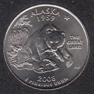 2008 D - Alaska - 25 Cents
