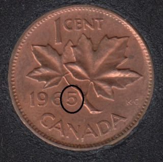1965 - Double 5 & Double Head - Canada Cent