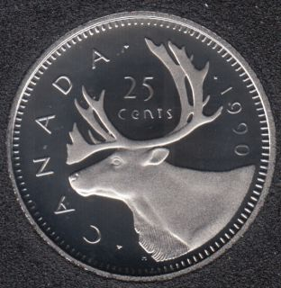 1990 - Proof - Canada 25 Cents