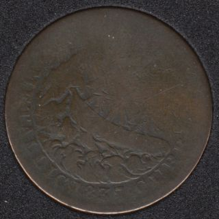 1837 -  Van Buren Mettalic Current - 1841 Webster Credit Current Hard Time Token