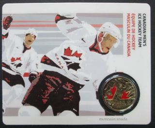 2009 - 25 Cents Vancouver 2010 - Canadian Men's Ice Hockey Team - Coin Sport Card