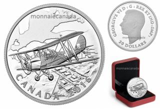 2016 - $20 - 1 oz argent  Front intérieur canadien : Programme d'entraînement aérien du Commonwealth