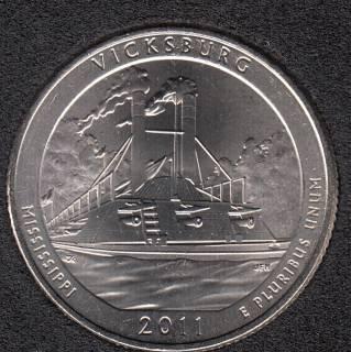 2011 P - Vicksburg - 25 Cents