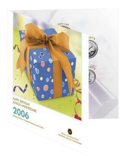 2006 Canada Happy Birthday Gift Set - 7 Coins