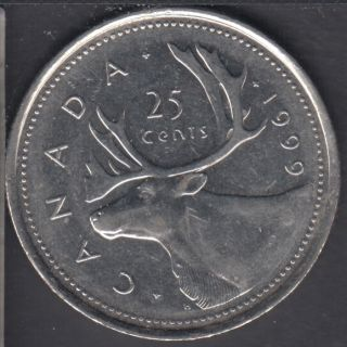 1999 P - Circulated - Canada 25 Cents