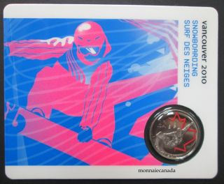 2010 - 25 cents - Vancouver – Snowboarding Circulation Sport Cards