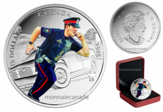 2016 - $15 - Pure Silver Coloured Coin – National Heroes: Police