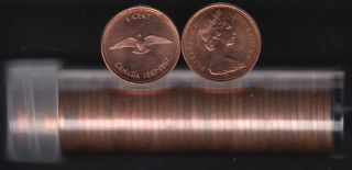 1967 Canada 1 Cent - BU ROLL 50 Coins - UNC - in Plastic Tube