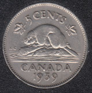 1939 - Canada 5 Cents