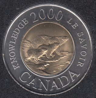 2000 - B.Unc - Knowledge - Canada 2 Dollars