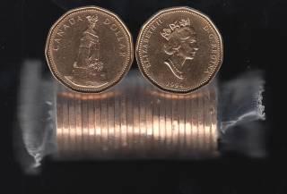 1994 Canada Roll $1 Dollar - Memorial - 25 Coins - UNC