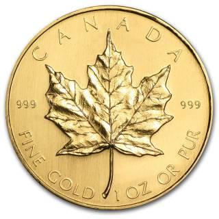 1981 - $50 - 1oz Fine Gold 999 - Gold Maple Leaf