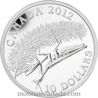 2012 - $10 - Fine Silver Coin - Praying Mantis