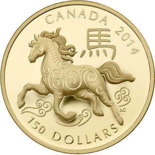 2014 - $150 - 18-karat Gold Coin - Year of the Horse