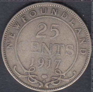 Terre Neuve - 1917 C - 25 Cents