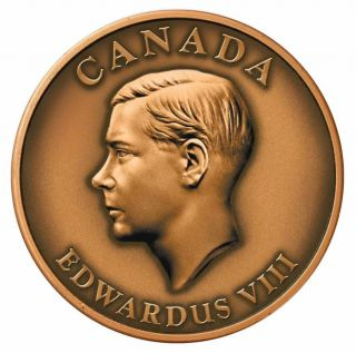 2009 canada king edward VIII - medallion